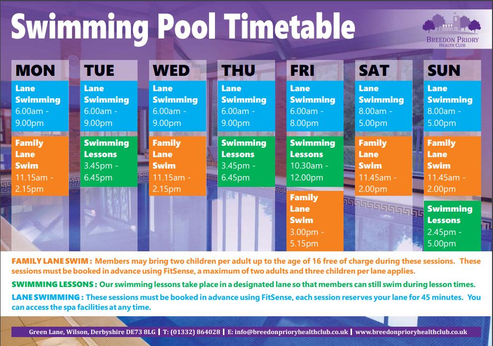 Swim Timetable